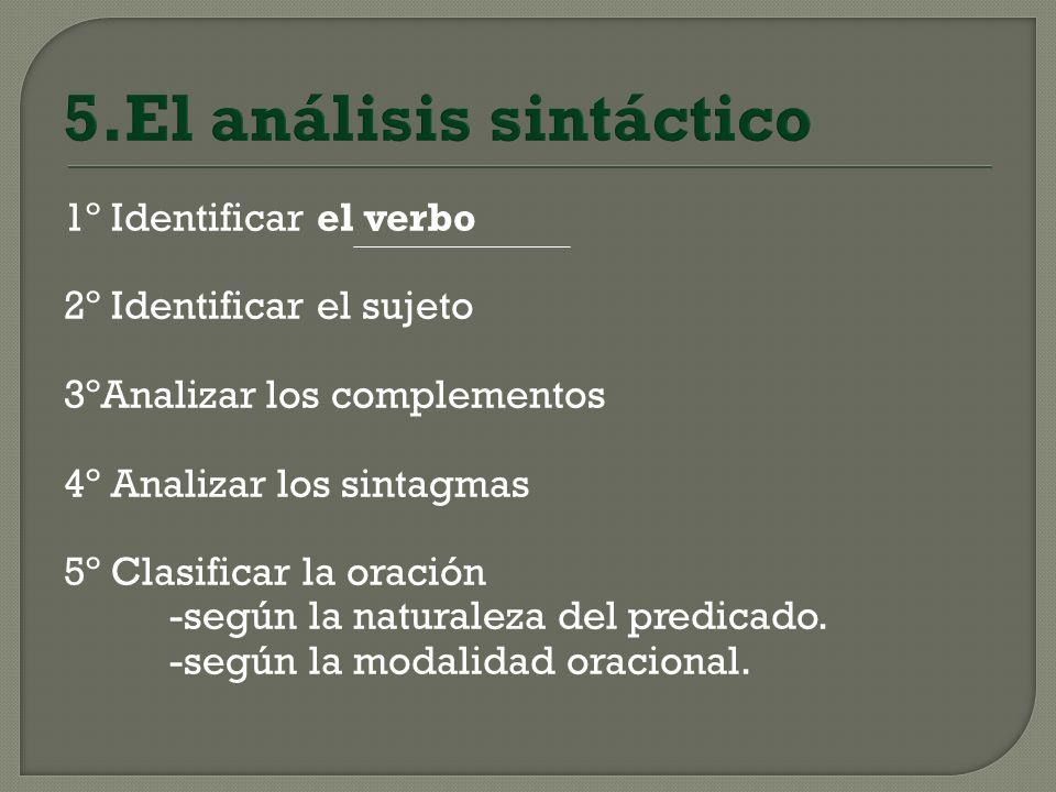 5.El análisis sintáctico