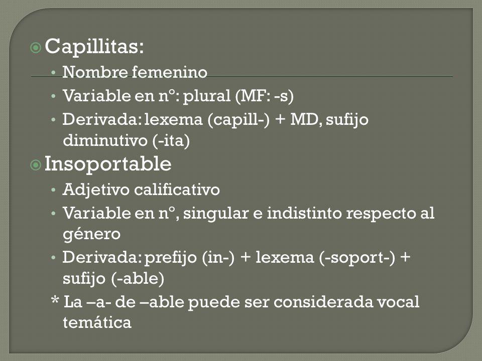 Capillitas: Insoportable Nombre femenino