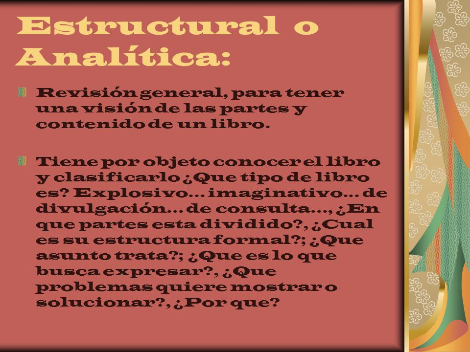 Estructural o Analítica: