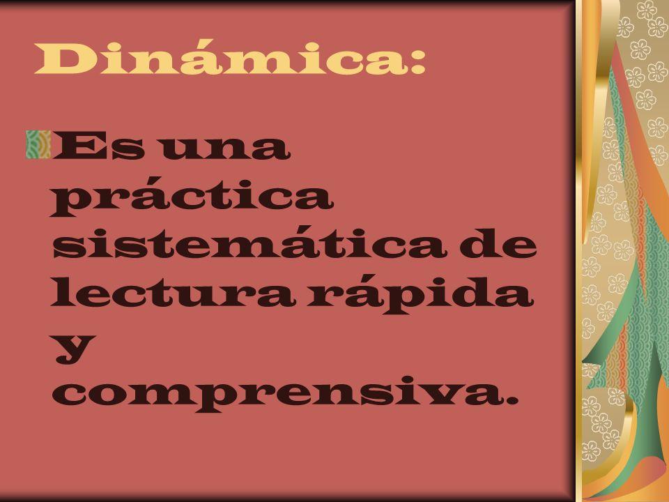 Es una práctica sistemática de lectura rápida y comprensiva.