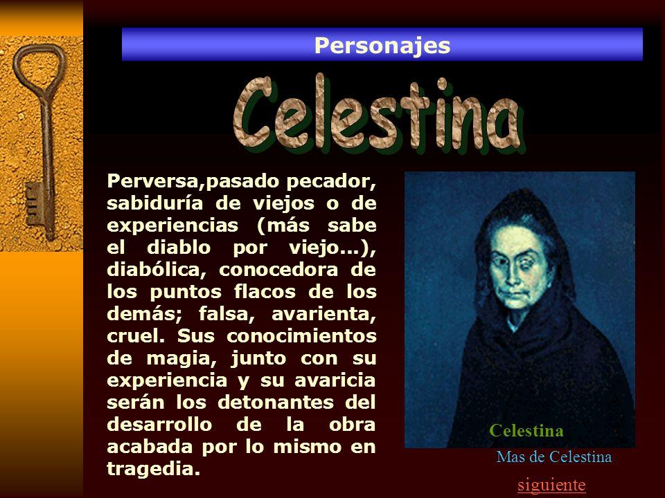 Personajes Celestina.