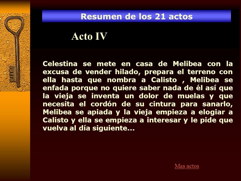 Acto IV Resumen de los 21 actos