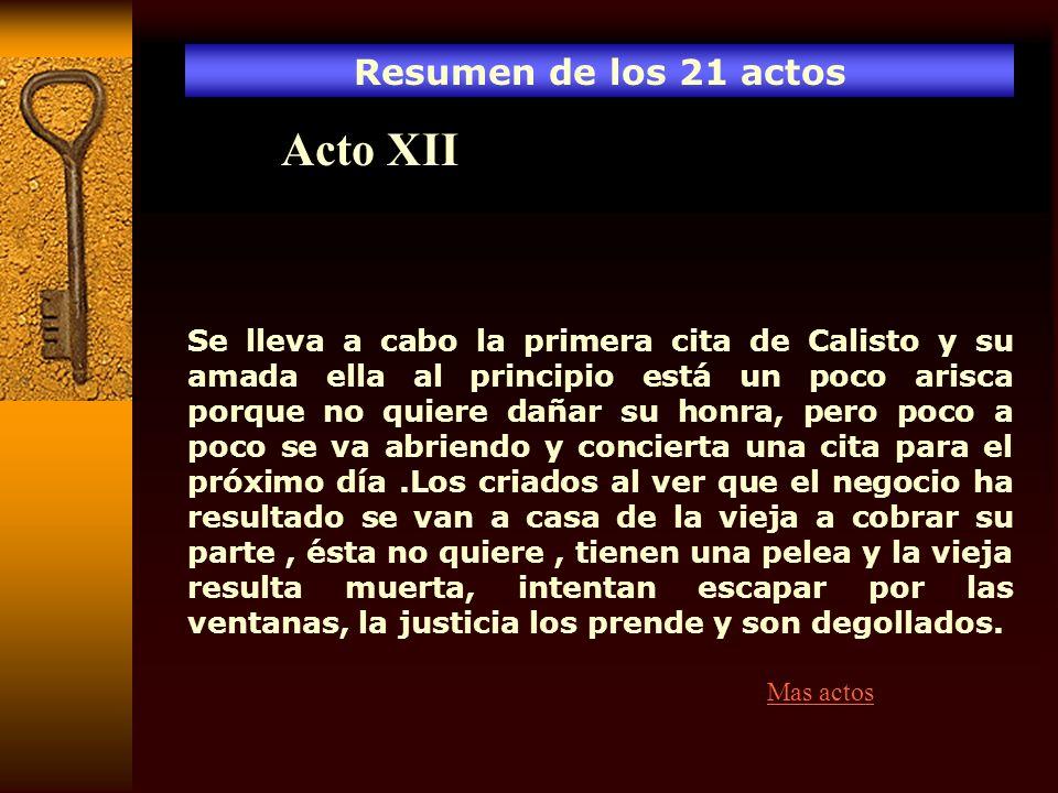 Acto XII Resumen de los 21 actos