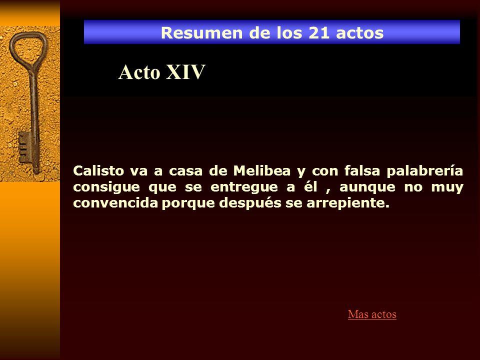 Acto XIV Resumen de los 21 actos