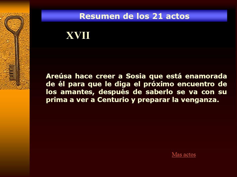 XVII Resumen de los 21 actos