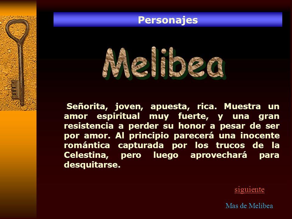 Personajes Melibea.