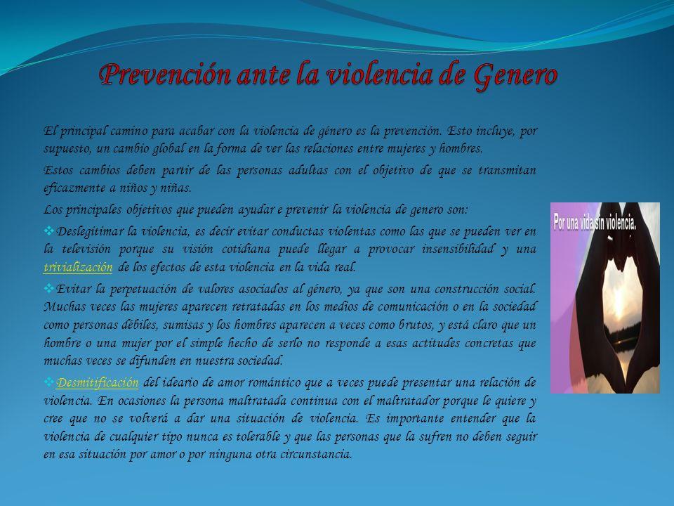 Prevención ante la violencia de Genero
