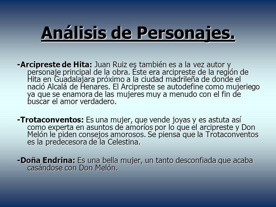 Análisis de Personajes.