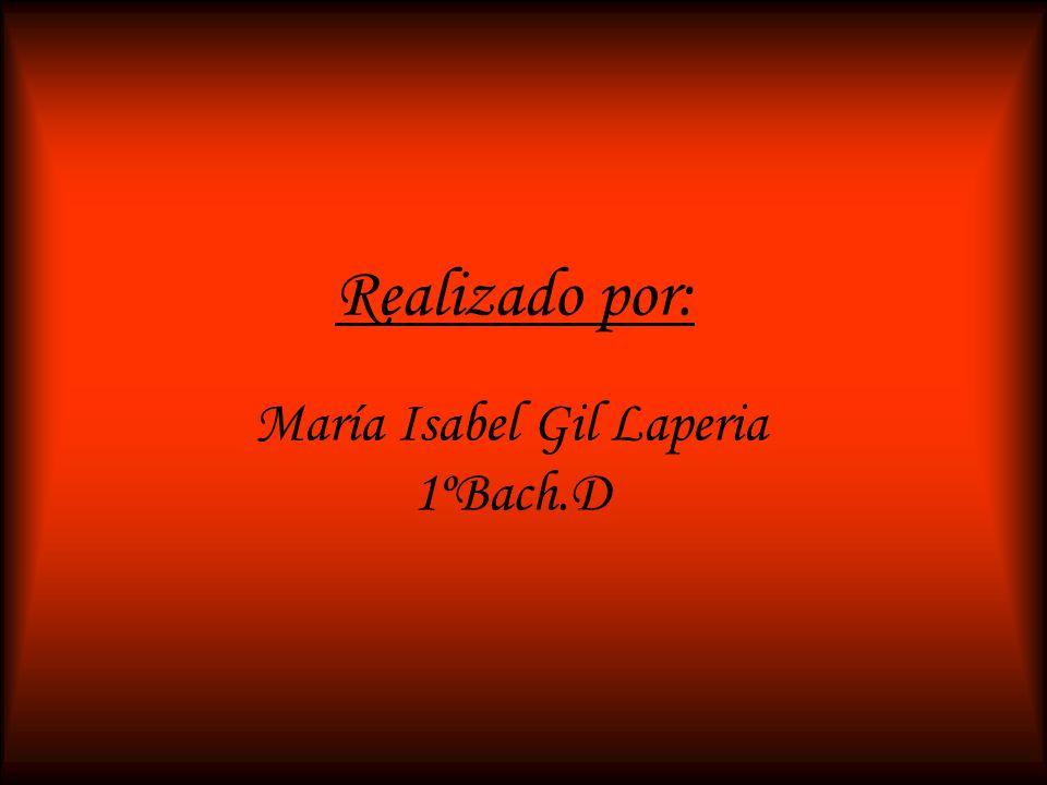 María Isabel Gil Laperia 1ºBach.D