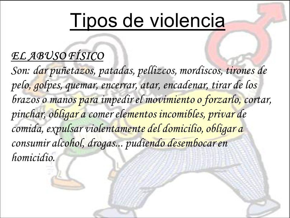 Tipos de violencia EL ABUSO FÍSICO