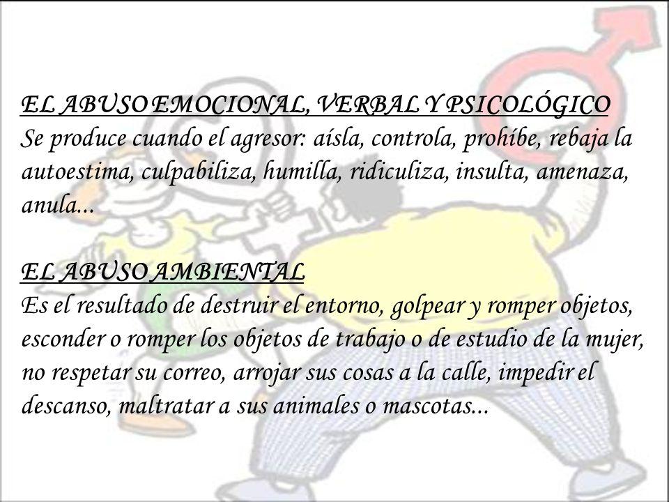 EL ABUSO EMOCIONAL, VERBAL Y PSICOLÓGICO