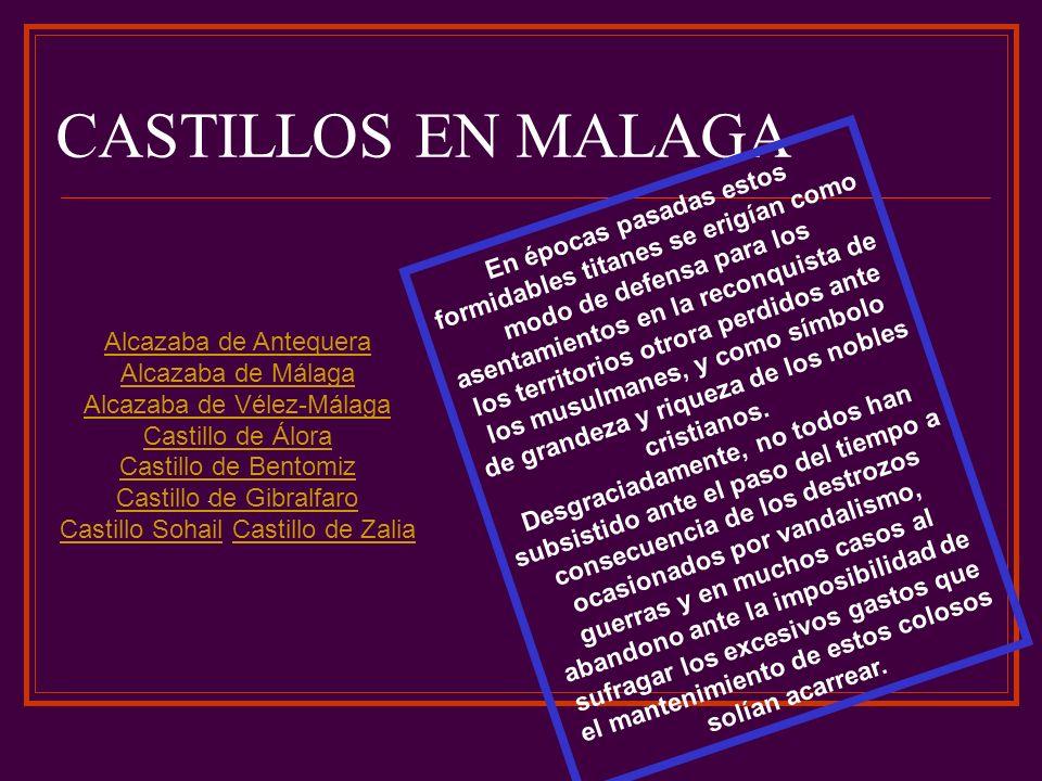 CASTILLOS EN MALAGA