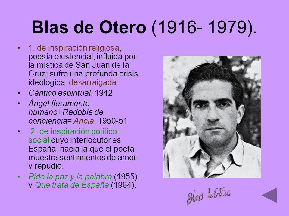 Blas de Otero (1916- 1979).