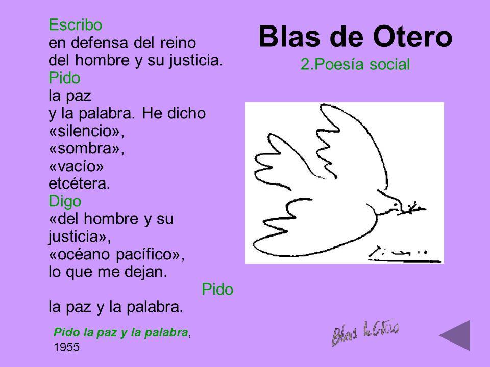 Blas de Otero 2.Poesía social