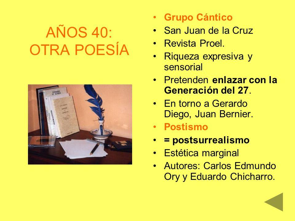 AÑOS 40: OTRA POESÍA Grupo Cántico San Juan de la Cruz Revista Proel.