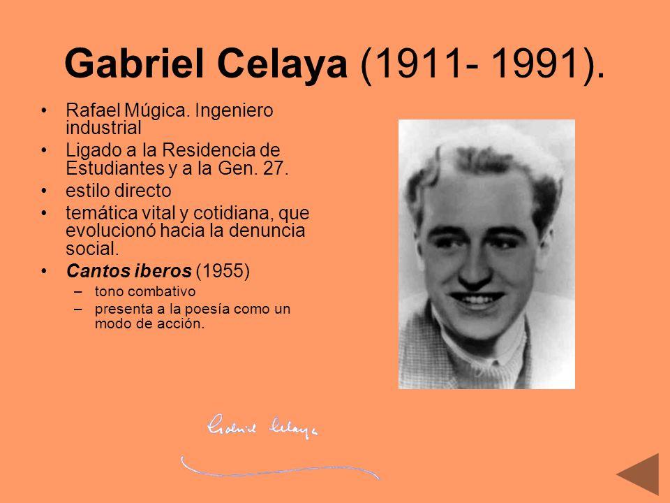 Gabriel Celaya (1911- 1991). Rafael Múgica. Ingeniero industrial