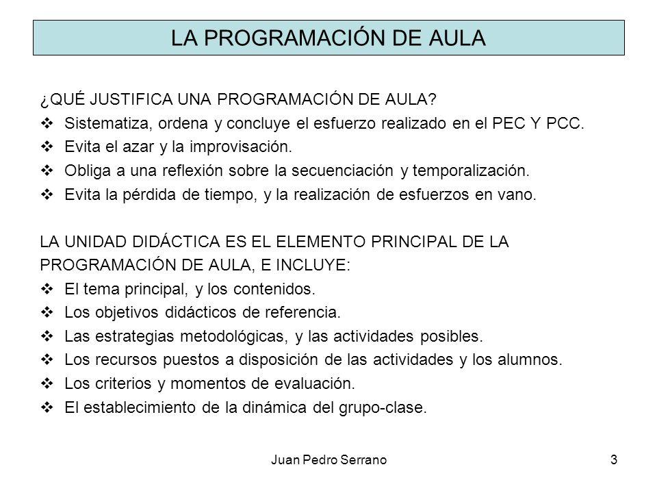 LA PROGRAMACIÓN DE AULA