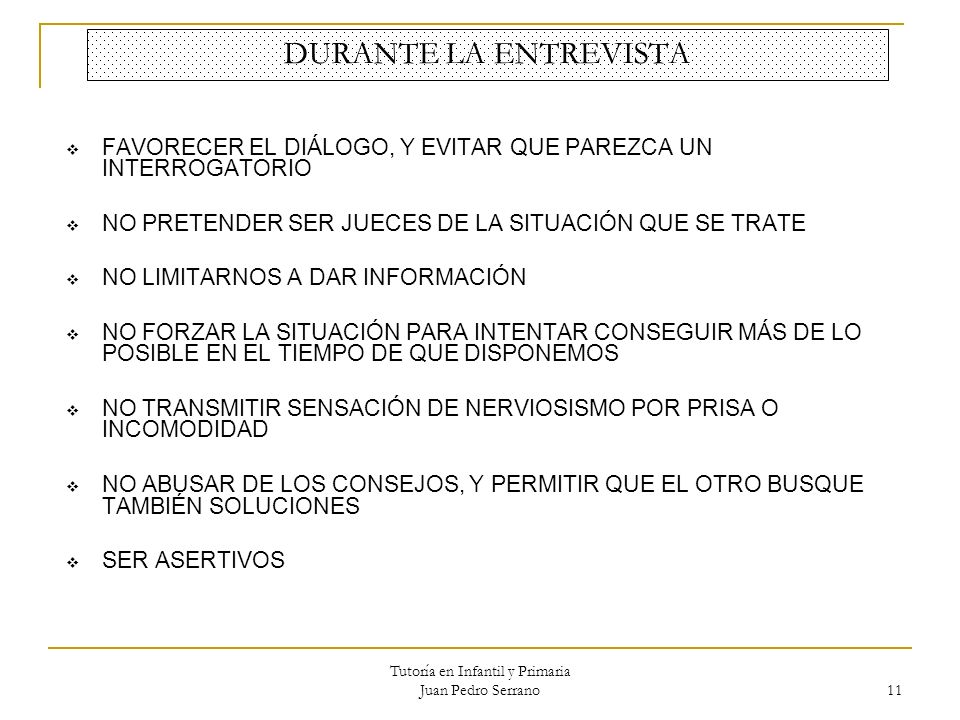 Tutoría en Infantil y Primaria Juan Pedro Serrano