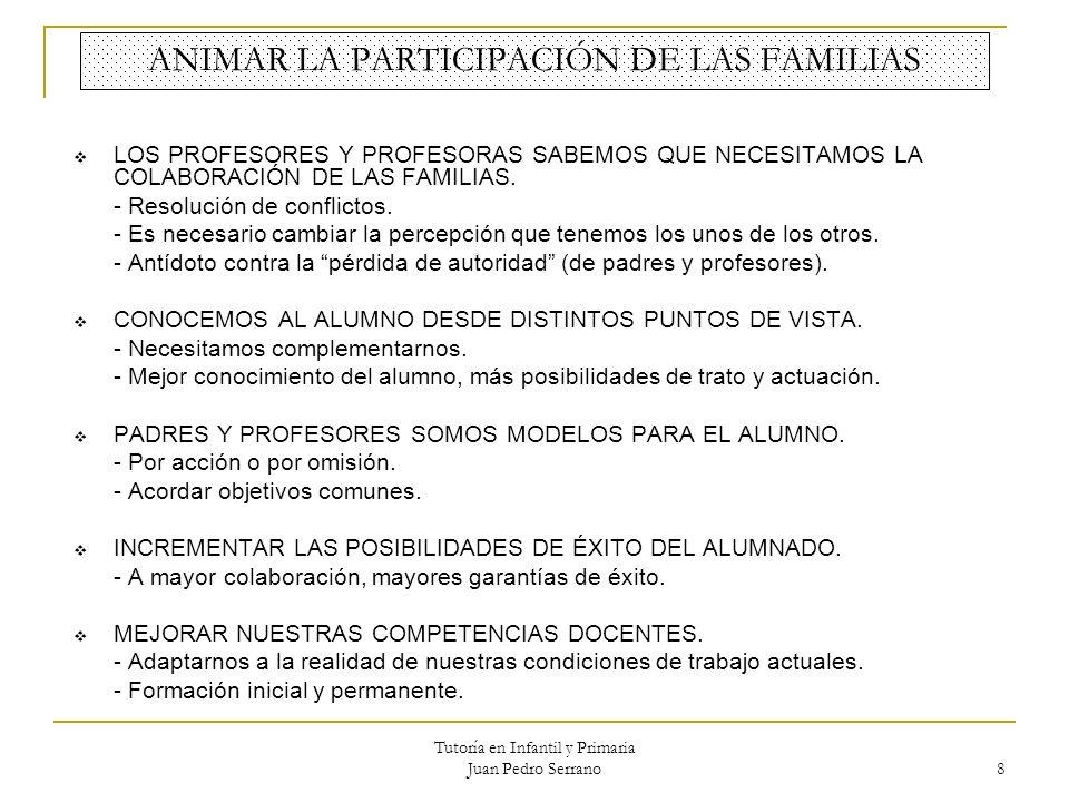 ANIMAR LA PARTICIPACIÓN DE LAS FAMILIAS