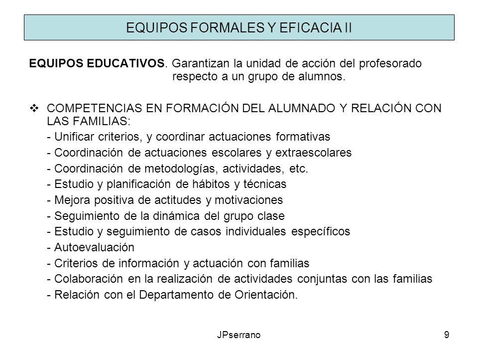 EQUIPOS FORMALES Y EFICACIA II