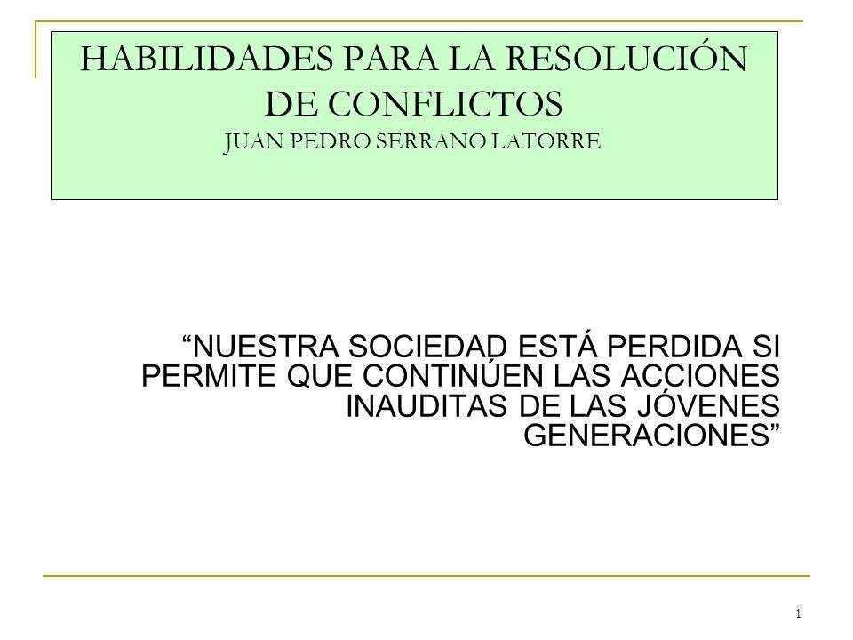 HABILIDADES PARA LA RESOLUCIÓN DE CONFLICTOS JUAN PEDRO SERRANO LATORRE