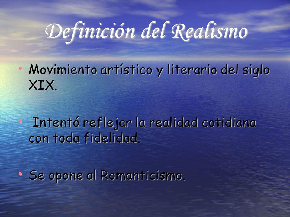 Definición del Realismo