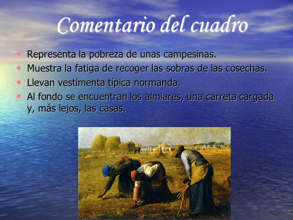 Comentario del cuadro Representa la pobreza de unas campesinas.