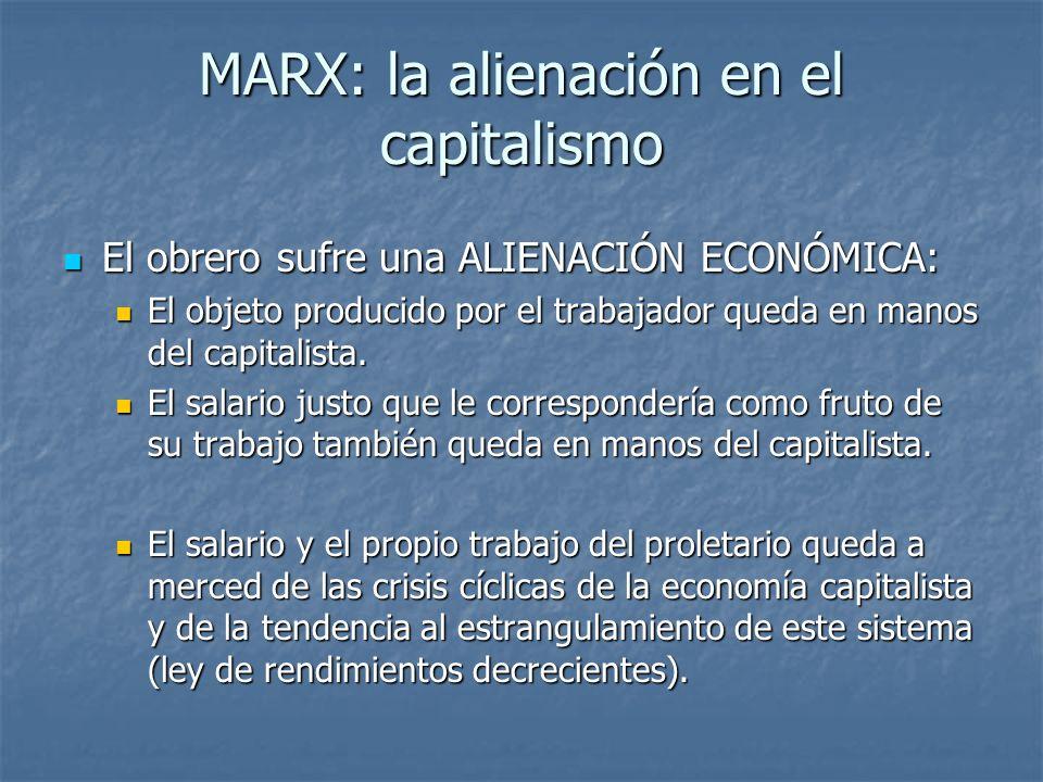MARX: la alienación en el capitalismo