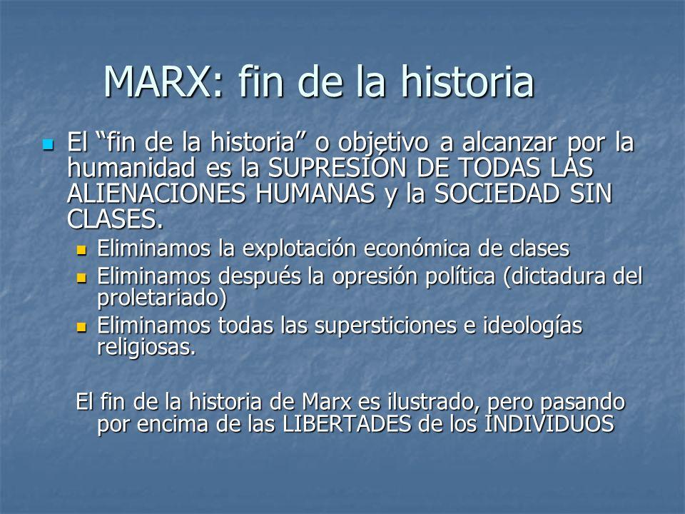 MARX: fin de la historia
