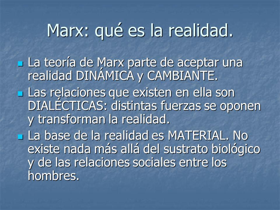 Marx: qué es la realidad.