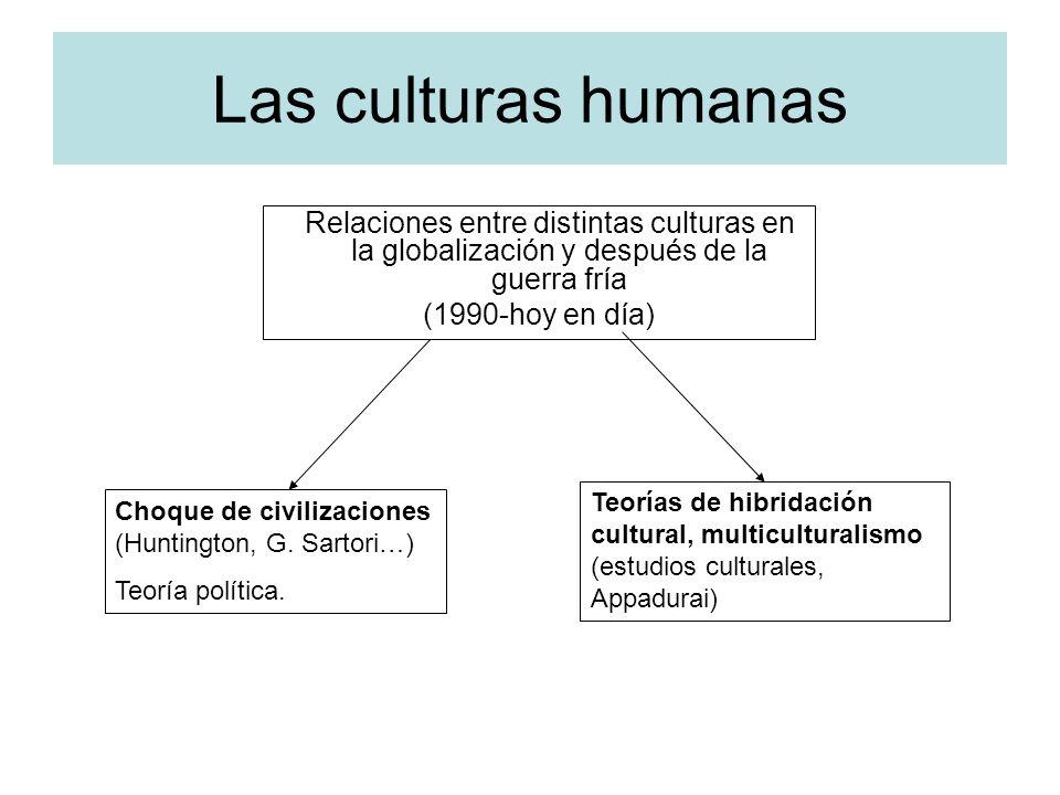 Las culturas humanas (1990-hoy en día)