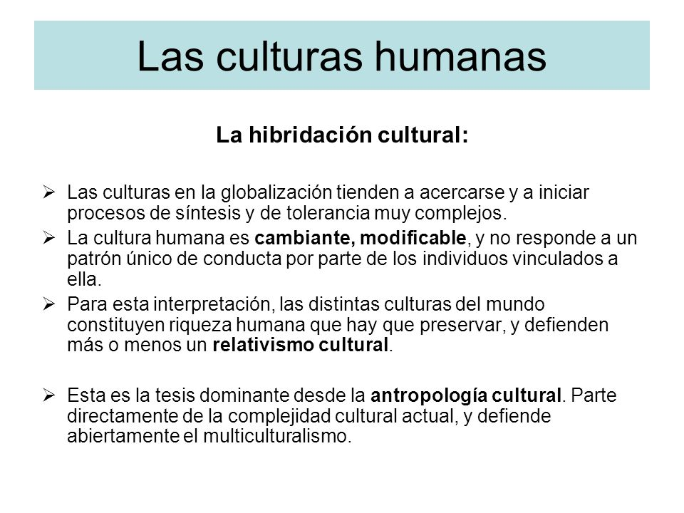 La hibridación cultural: