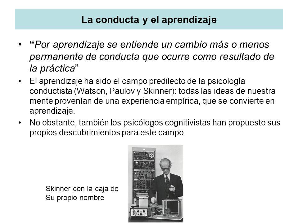 La conducta y el aprendizaje