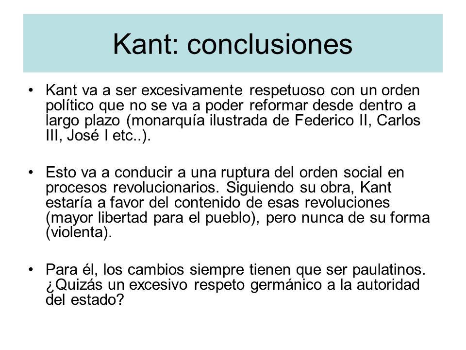 Kant: conclusiones