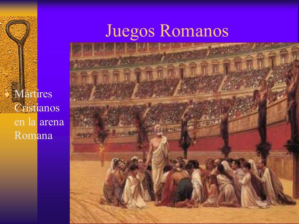Juegos Romanos Mártires Cristianos en la arena Romana