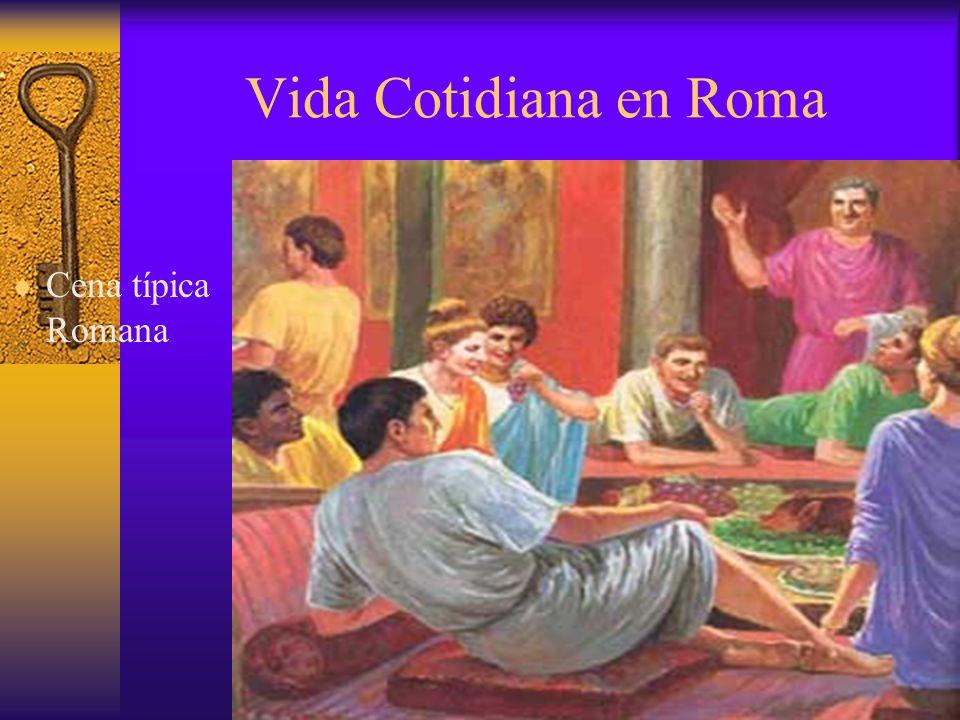 Vida Cotidiana en Roma Cena típica Romana