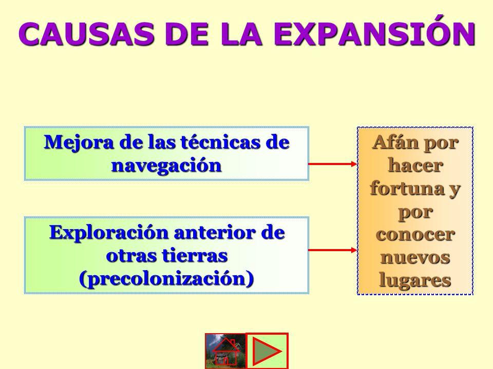 CAUSAS DE LA EXPANSIÓN Mejora de las técnicas de navegación