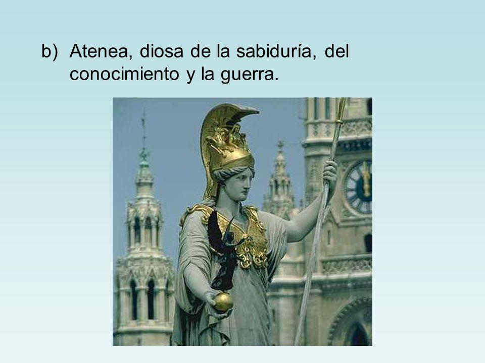 Atenea, diosa de la sabiduría, del conocimiento y la guerra.