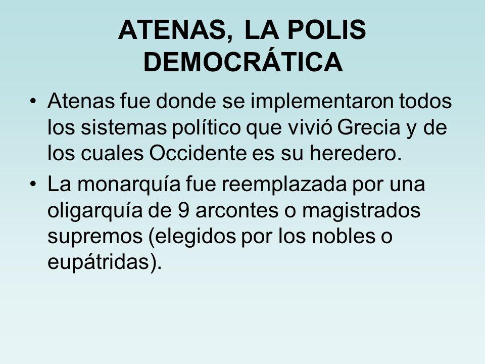 ATENAS, LA POLIS DEMOCRÁTICA