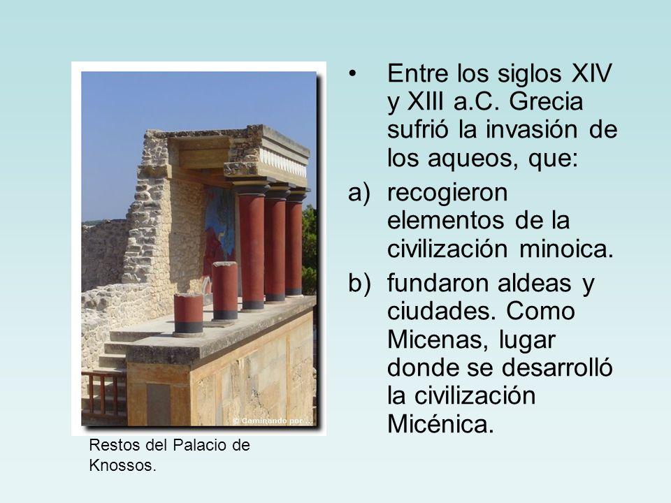 recogieron elementos de la civilización minoica.