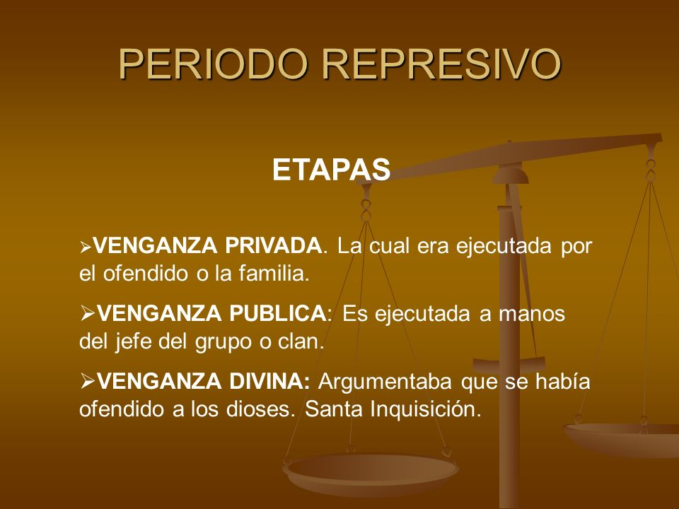 PERIODO REPRESIVO ETAPAS