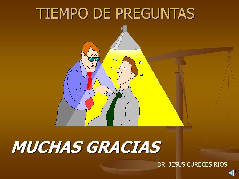 TIEMPO DE PREGUNTAS MUCHAS GRACIAS DR. JESUS CURECES RIOS