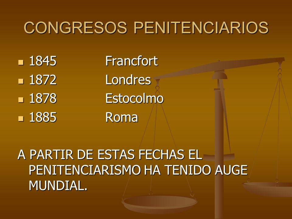 CONGRESOS PENITENCIARIOS