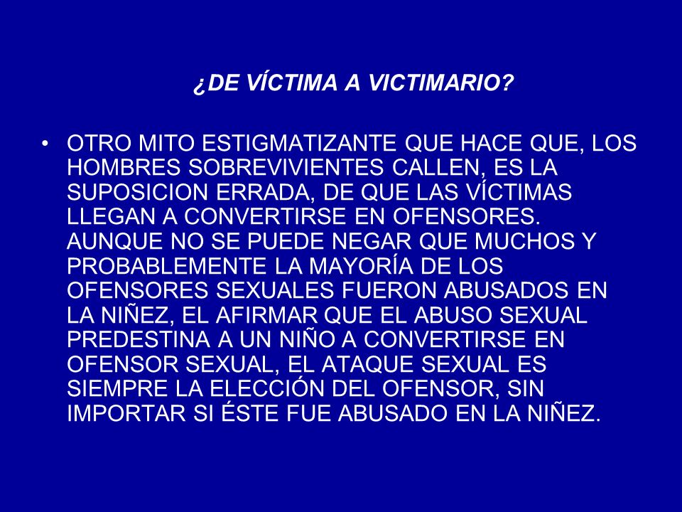 ¿DE VÍCTIMA A VICTIMARIO
