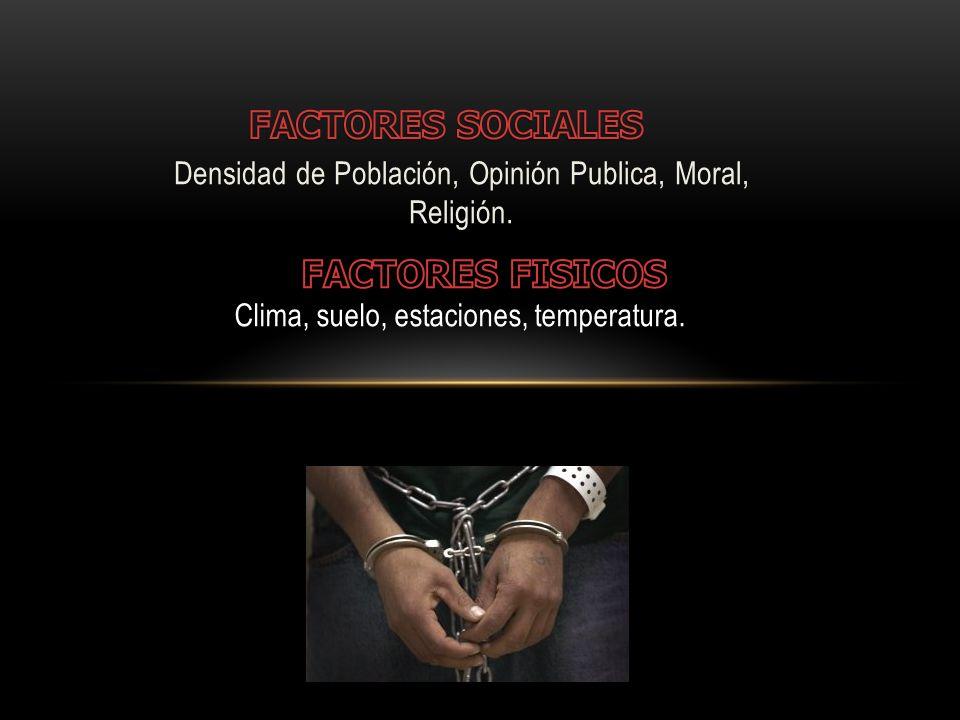 Densidad de Población, Opinión Publica, Moral, Religión.