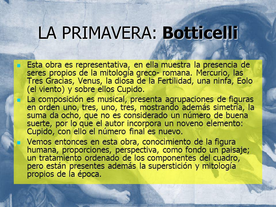 LA PRIMAVERA: Botticelli