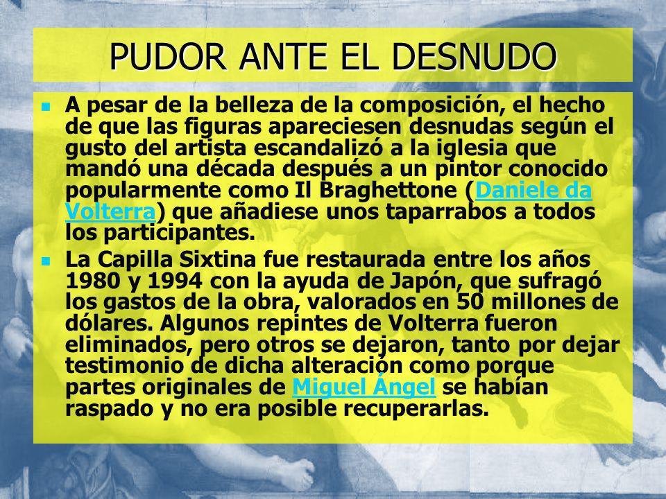 PUDOR ANTE EL DESNUDO