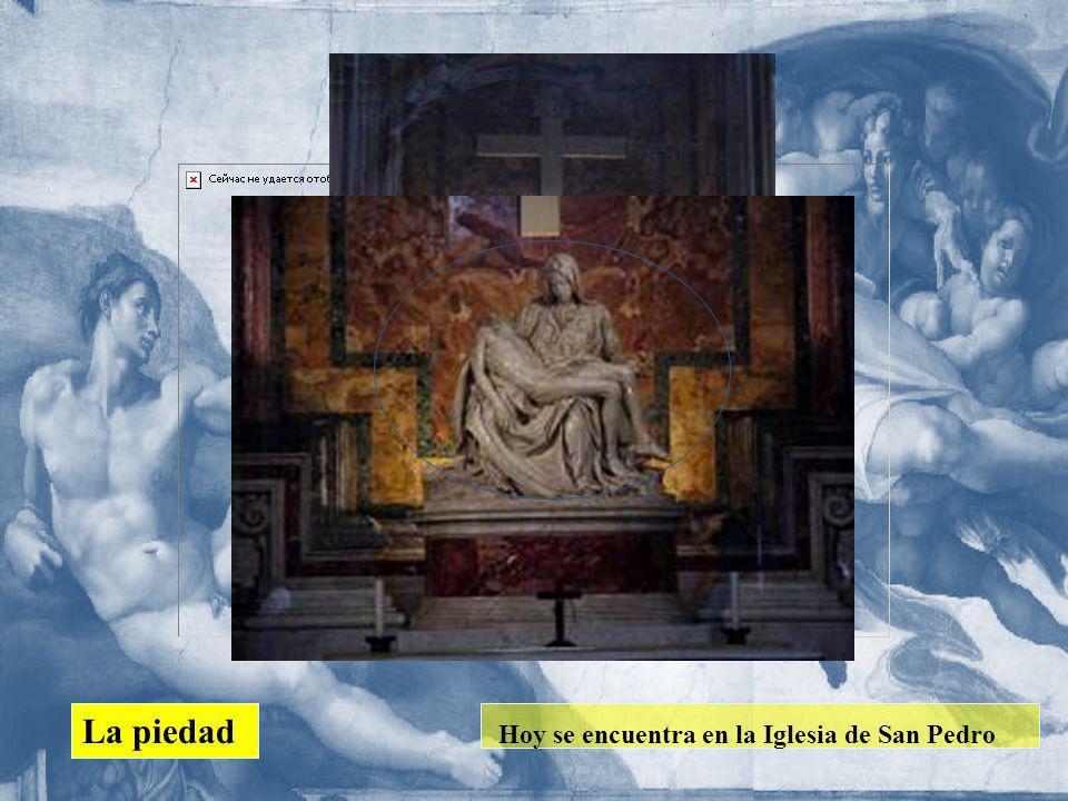 La piedad Hoy se encuentra en la Iglesia de San Pedro