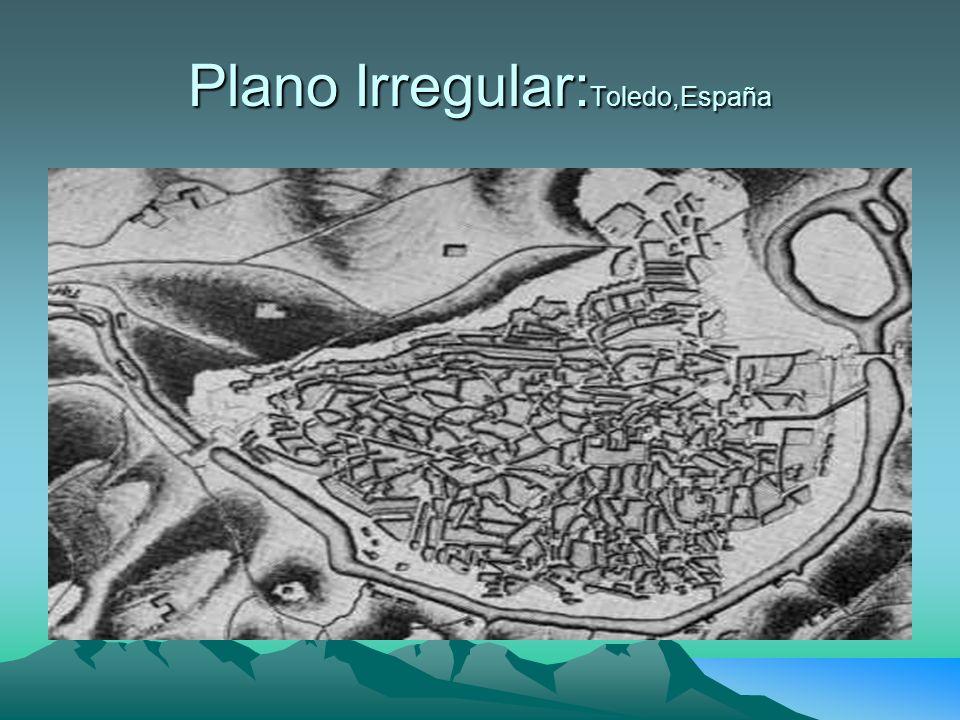 Plano Irregular:Toledo,España