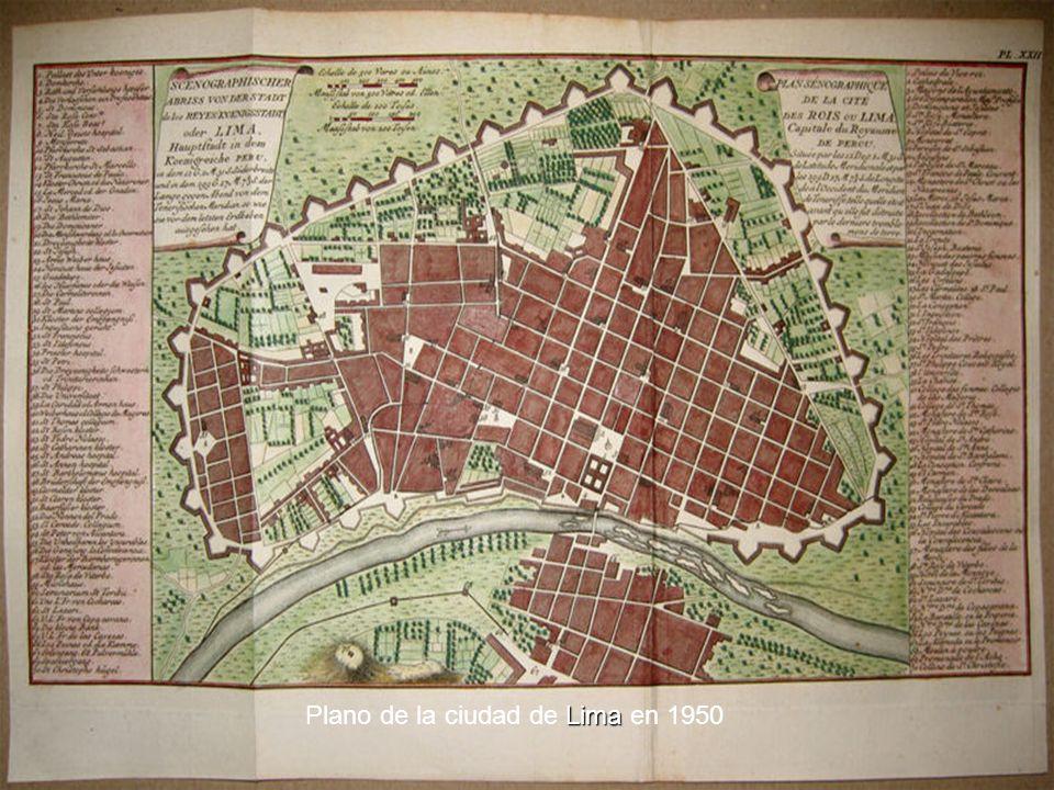 Plano de la ciudad de Lima en 1950